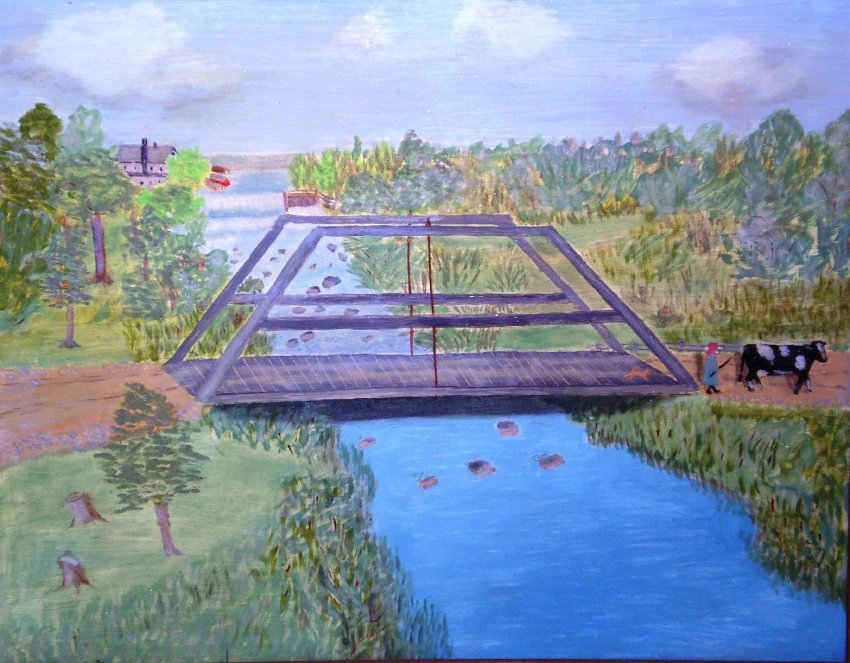 """Old Bridge In Shoto"" Erna Mueller Opens in new window"