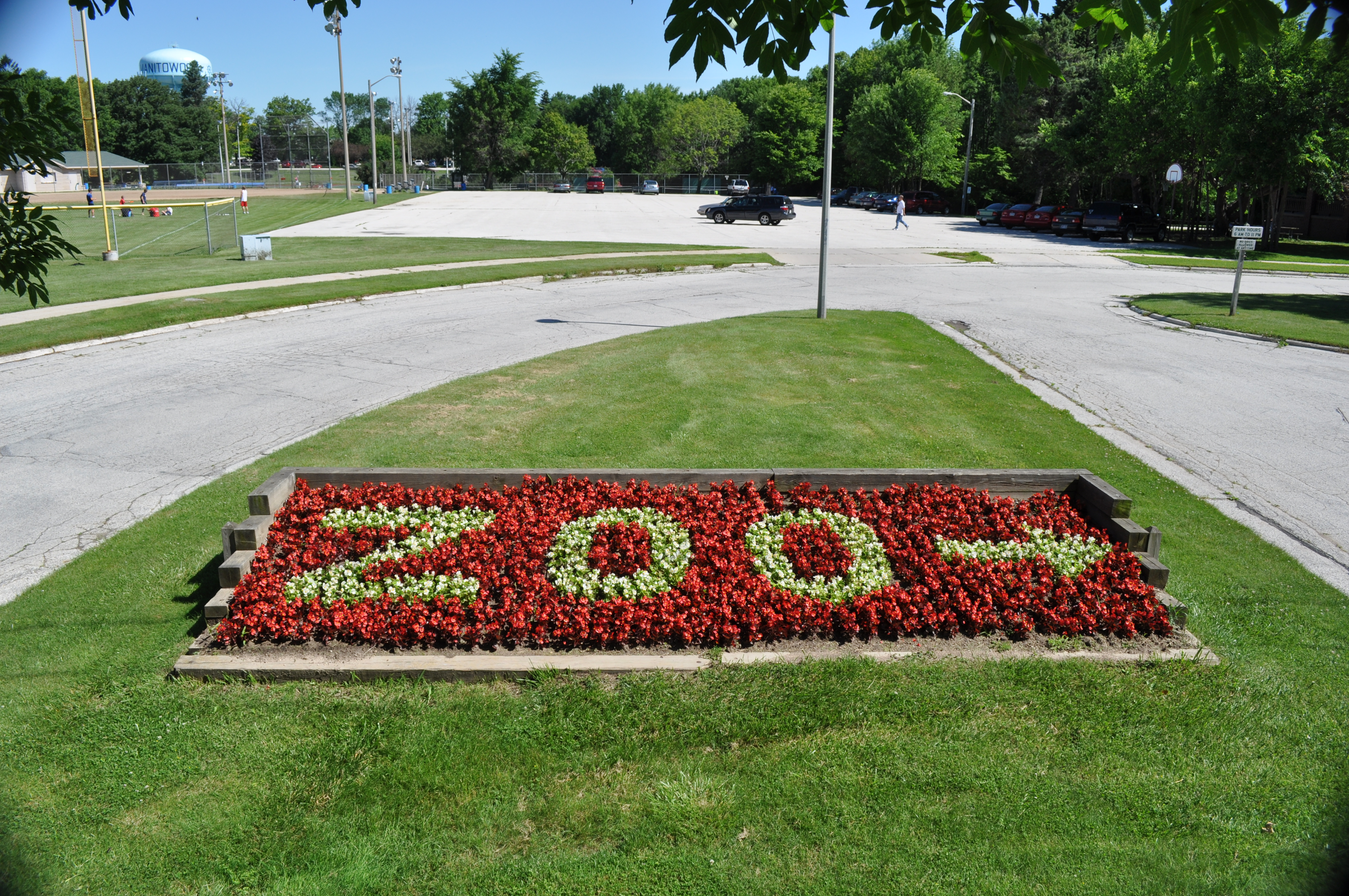 Zoo Sign created with Flowers