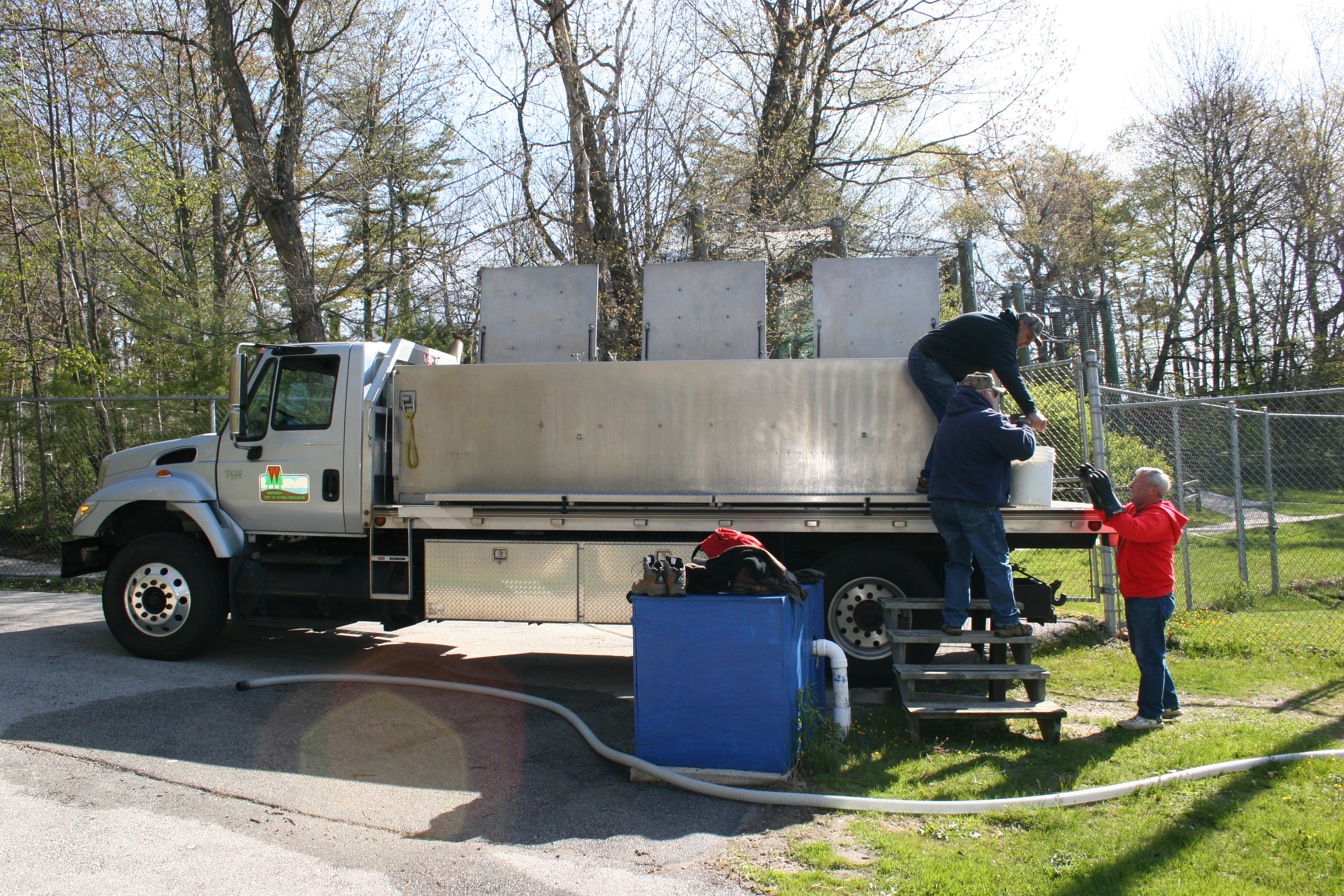 Hatchery Truck Delivering 27,000 Brown Trout